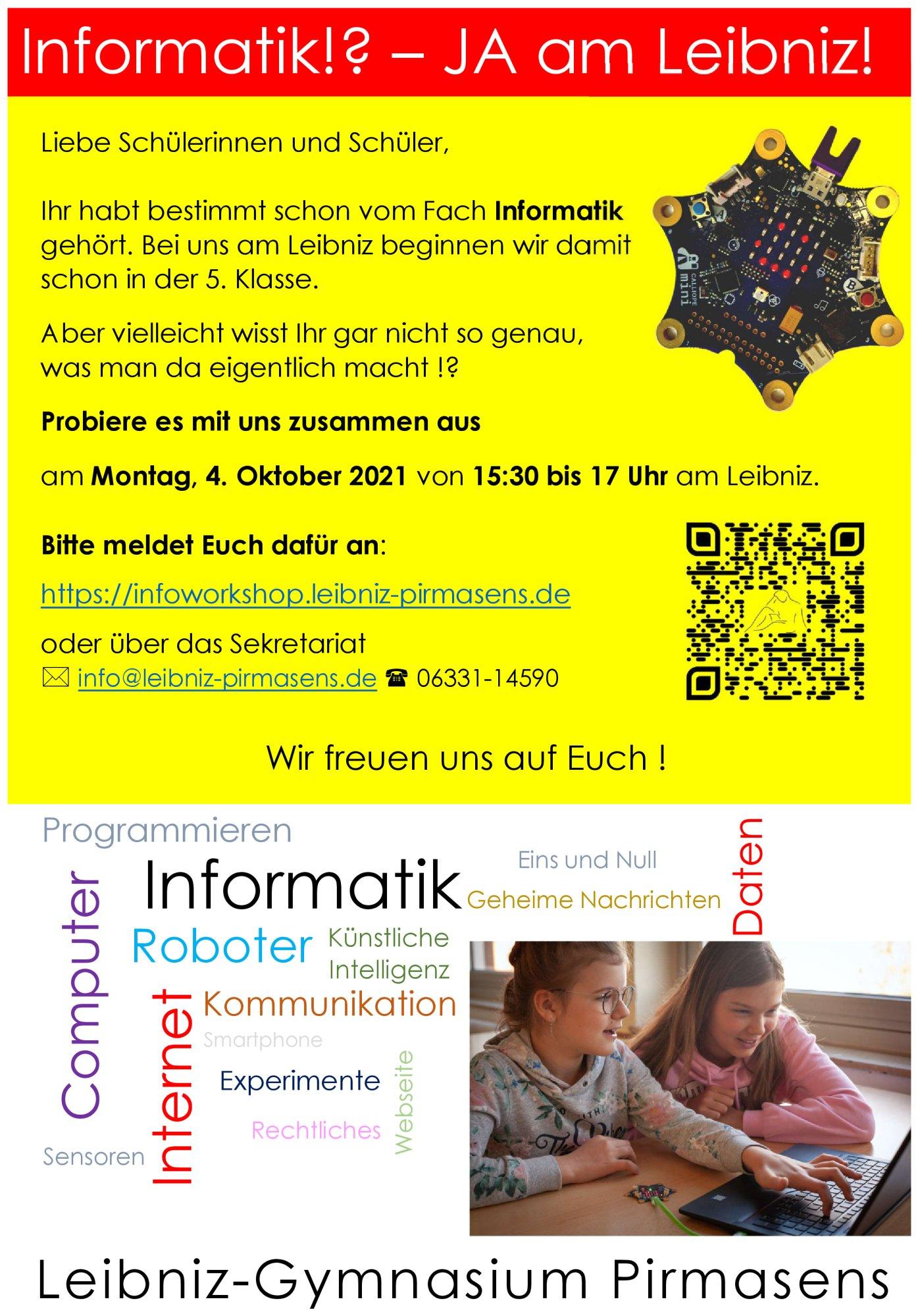 Informatik-Workshop 4.10.21